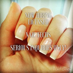 Hiring Licensed Nail Technicians Gardena Ca