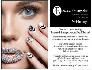 Hiring Nail Technicians Commission Based Orland Park Il
